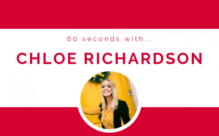 60 seconds with... Chloe Richardson
