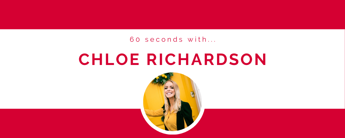 60 seconds with… Chloe Richardson
